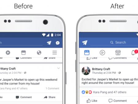Facebook ve Instagram Tasarımını Değiştiriyor